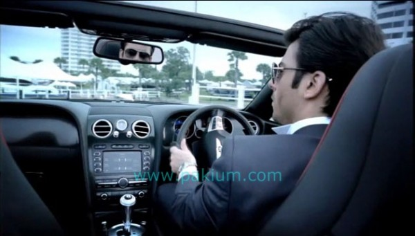 Fawad Khan driving Sports Car in QMobile AD