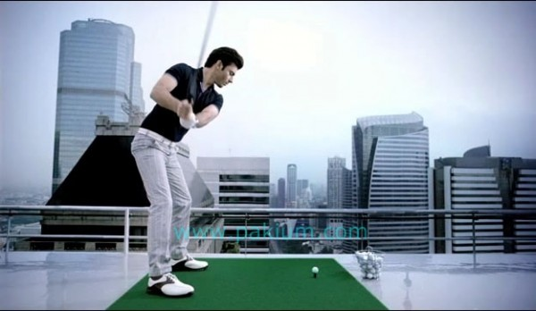 Fawad Khan playing Golf
