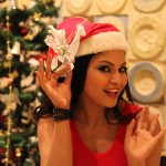 Veena Malik Celebrating Christmas16