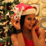 Veena Malik Celebrating Christmas17
