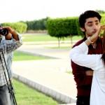 Amanat Ali on the set of Ishq Samandar 10