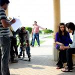 Amanat Ali on the set of Ishq Samandar 11