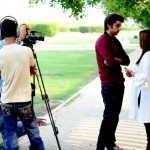 Amanat Ali on the set of Ishq Samandar 14