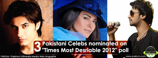 Atif Aslam, Veena Malik & Ali Zafar nominated on itimes poll