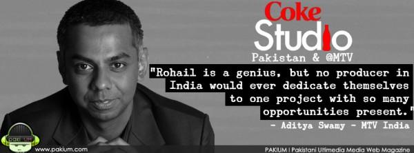Aditya Swamy praises Coke Studio Pakistan