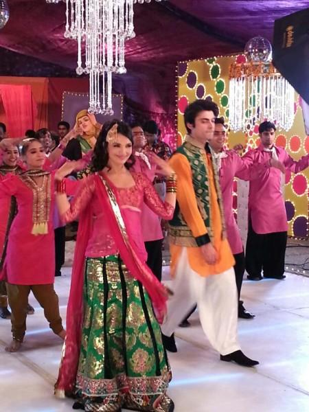 Amina Sheikh and Fawad Khan on the sets on Armaan - 1