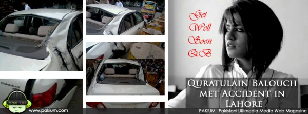 Qutarulain Balouch car accident photos