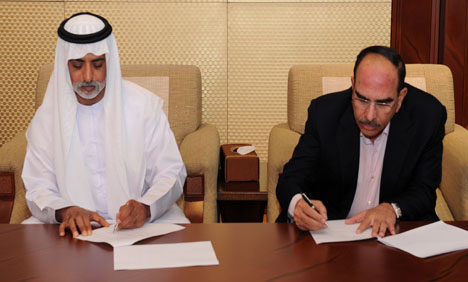 Malik Riaz Abu Dhabi Contract Sign