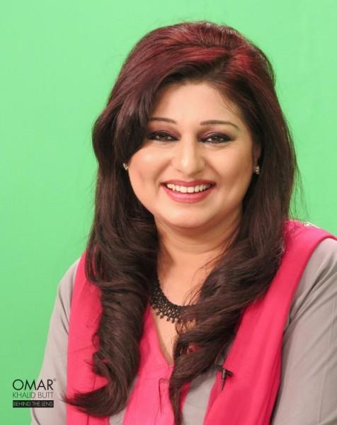 Shabnam Riaz, one of the leading female anchors at PTV World