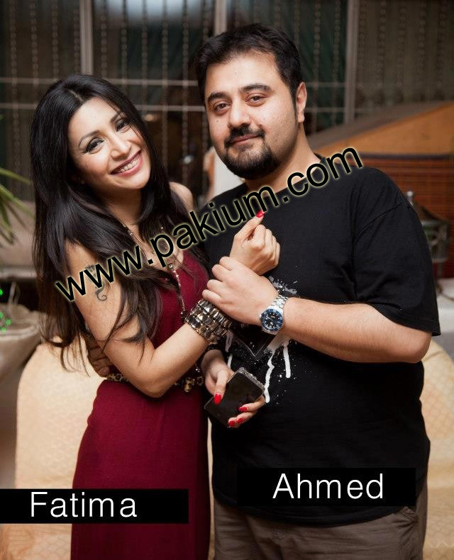 Ahmed Ali Butt with fiancee Fatima