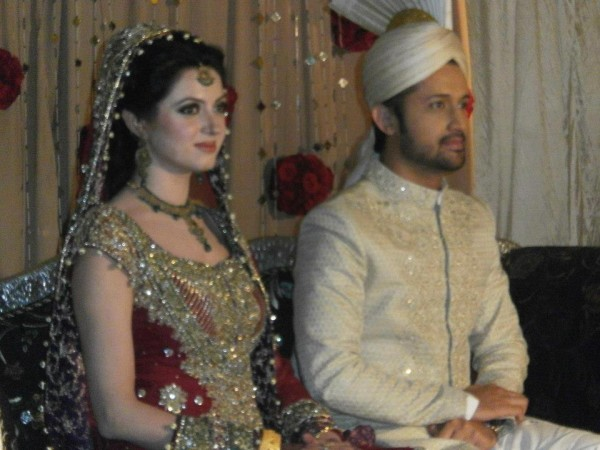 Atif Aslam and Sara Bharwana Barat Function (1)