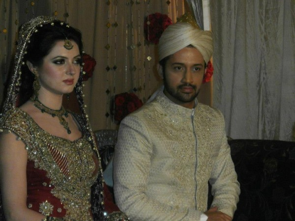 Atif Aslam and Sara Bharwana Barat Function (2)