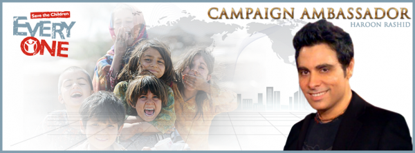 Haroon becomes the campaign ambassador of Every One's Save the Childern campaign