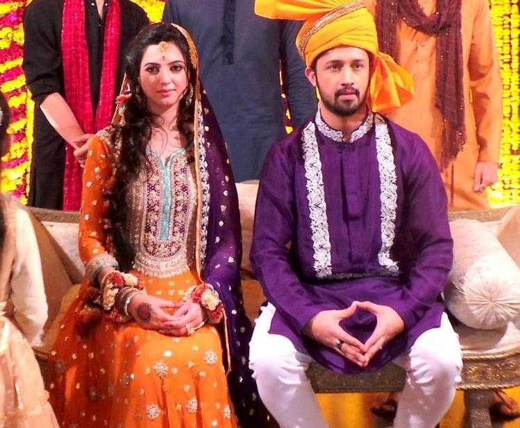 atif aslam and sara bharwana mehndi photos exclusive