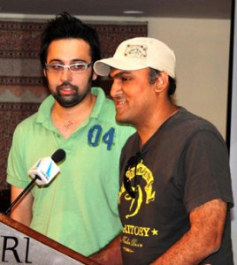 Aaroh Band Members Khalid Khan and Haider Hashmi