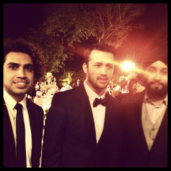 atif aslam valima ceremony with josh