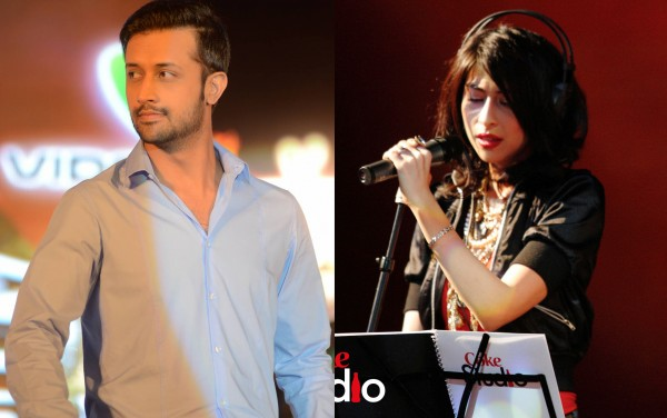 Atif Aslam and Meesha Shafi