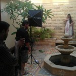 Sanam Saeed Warda Saleem Lawn Eid Collection BTS - 30
