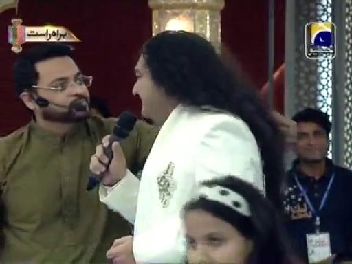 Aamir-liaquat-insulting-taher-shah-amaan-ramadan2013