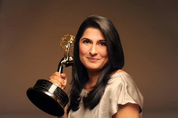 Sharmeen Obaid Chinoy with Emmy