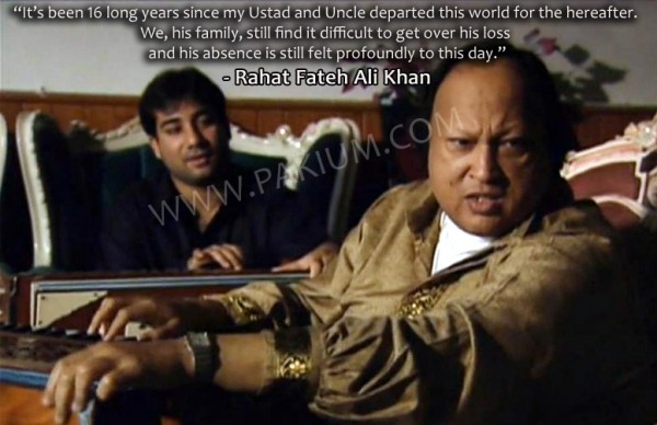 Rahat Fateh Ali Khan with his uncle Nusrat Fateh Ali Khan