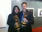 Sharmeen and Daniel with their Emmys (2)