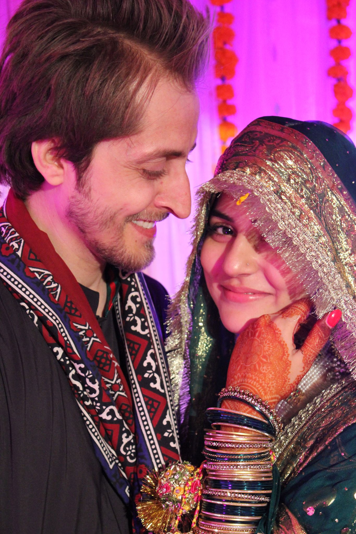 sanam baloch with husband farhatullah