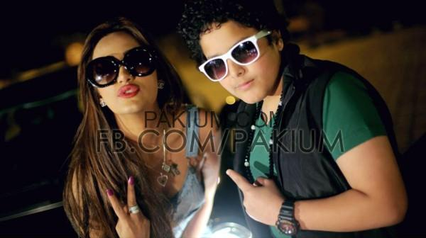 Mathira with 12 saal ka rapper Arbaz Khan