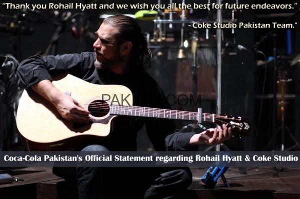 Coca-Cola Pakistan's Official Statement regarding Rohail Hyatt and Coke Studio
