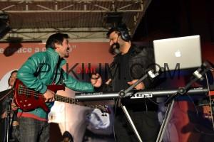 Farhan & Sheraz having fun on stage