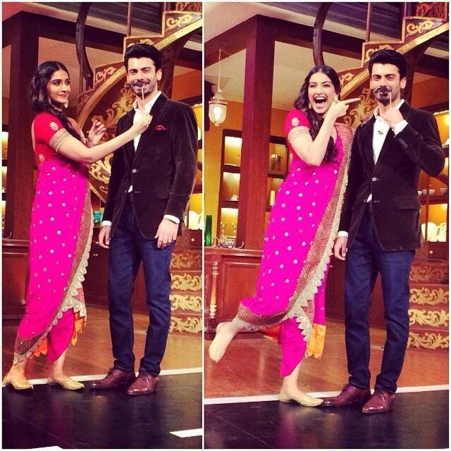 Fawad Khan and Sonam on Comedy Nights