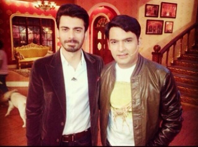 Fawad Khan with Kapil
