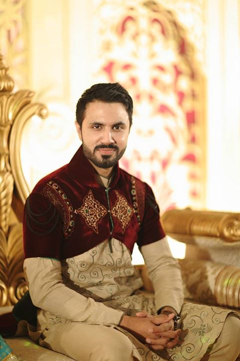 Mustafa Zahid wedding picture in shalwar kameez