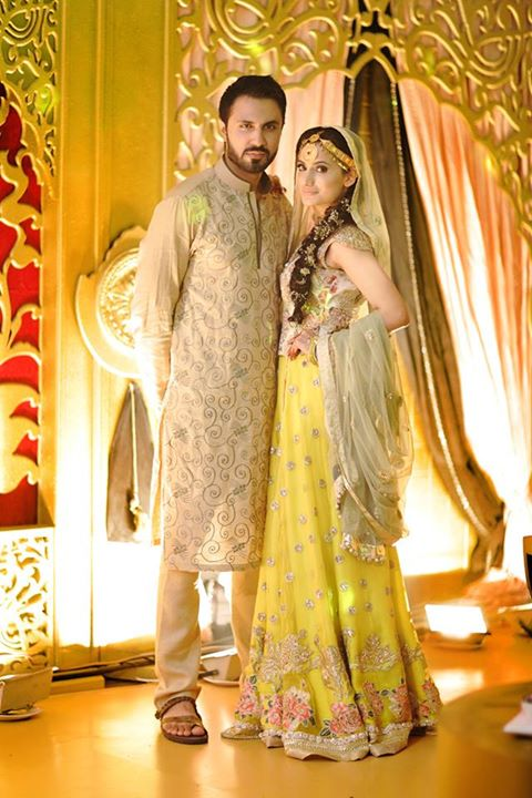 Mustafa Zahid wedding pictures with his wife Jia