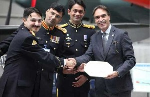 Rome Film Festival Best Documentary Award for Defenders received by ISPR team; Col Salahuddin, Maj Hassan Miraj, Maj Imran Raza