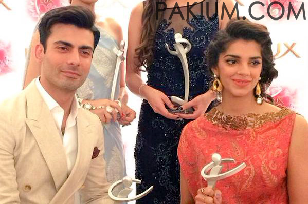 Fawad Khan and Sanam Saeed Won 13th Lux Style Awards