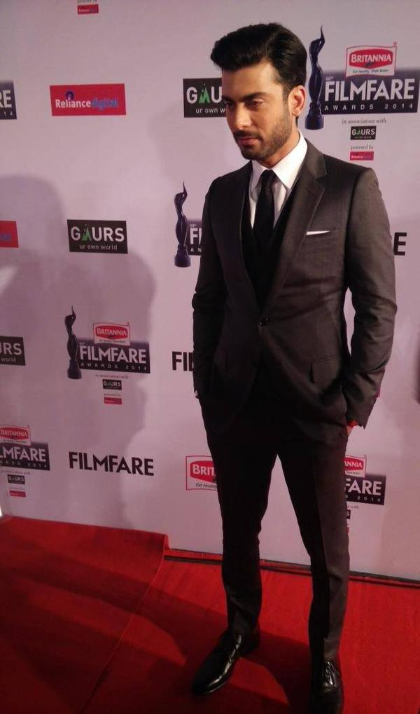 Fawad Khan at red carpet of 60th Filmfare Awards in Mumbai
