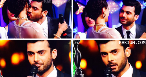 fawad khan kissing sonam at filmfare awards