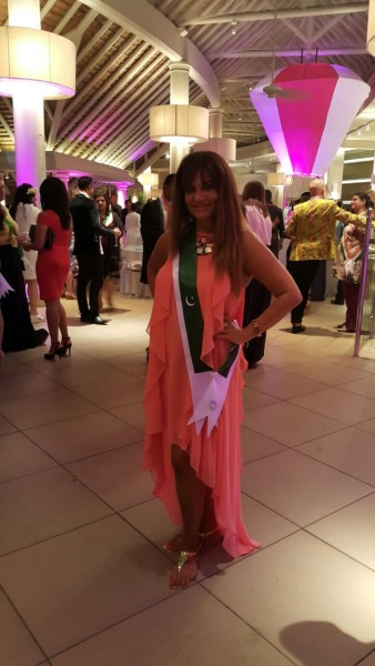 Frieha Altaf representing Pakistan