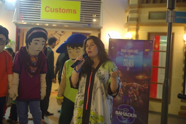 Sharmeen Obaid-Chinoy introducing 3 Bahadur and its official game (1)