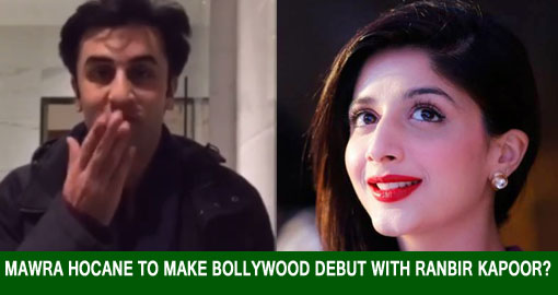 mawra hocane to make bollywood debut with Ranbir kapoo poster