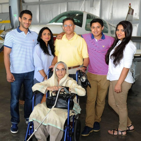 Haris and Babar with family