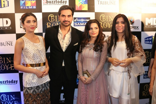 Cast of Bin Roye along with Momina Duraid