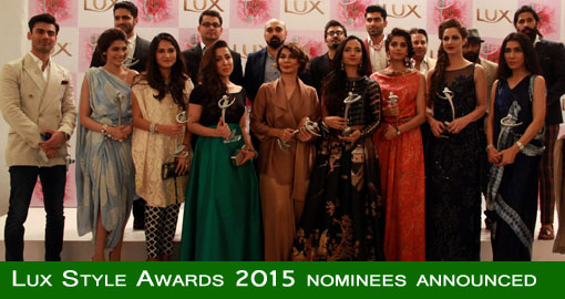 Lux Style Awards 2015 nominees announced