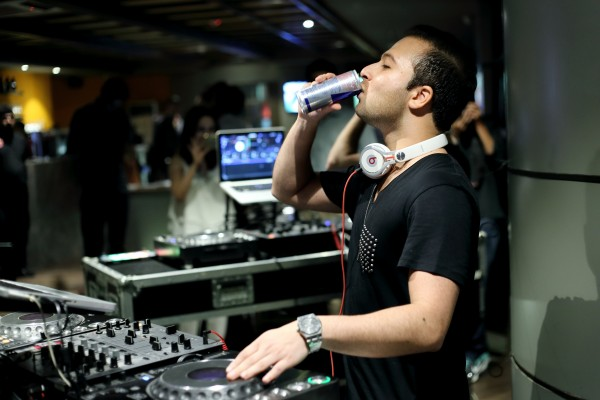 DJ Shah Munir enjoying RedBull