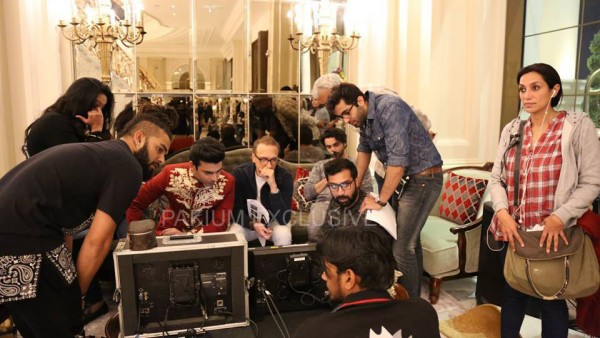 Fawad Khan and Shehreyar Munawwar on the shoot of new Tarang TVC