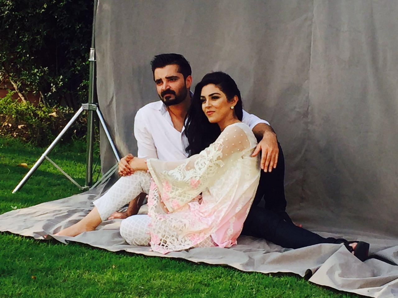 Maya Ali And Hamza Abbasi Faces Of The Maria B Lawn Campaign