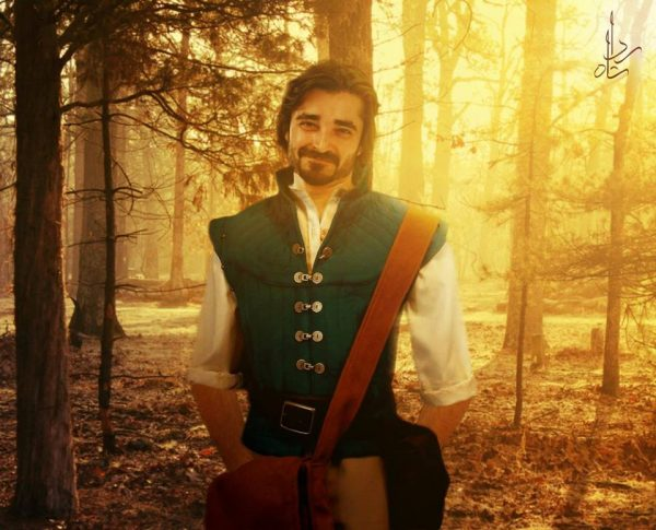 5. Hamza Ali abbasi as Flynn Rider from tangled