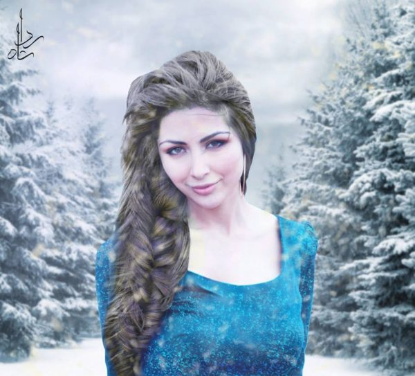 7. Sabeeka imam as Elsa from frozen