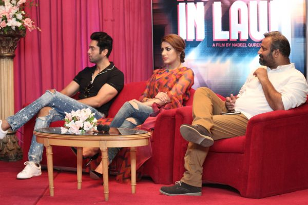 Fahad Mustafa, Mehwish Hayat and Rana Kamran, Director of Photography of the Film, Actor in Law
